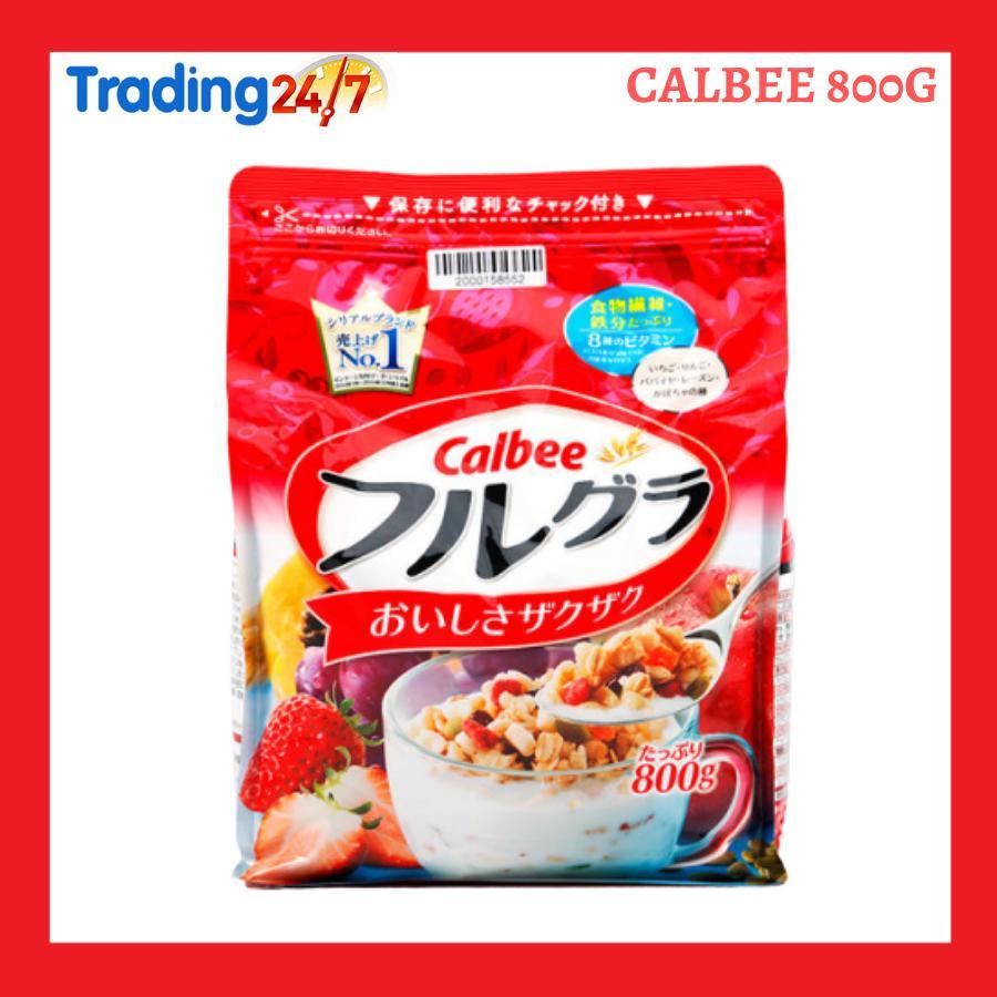 Giá Sốc Duy Nhất Hôm Nay Khi Mua Ngũ Cốc Calbee Màu đỏ 800g Nhật Bản (HSD T5/2020)
