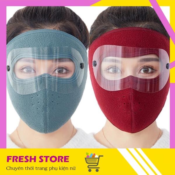 Giá bán Khẩu Trang Ninja Nam Nữ Che Kín Mặt Kín Cổ Lót Nỉ Siêu Ấm Có Kính KTN01KHNX - Khau Trang Ninja Nam Nu Che Kin Mat Kin Co Lot Ni Sieu Am Co Kinh - Freshstore