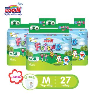 Combo 3 bịch Tã quần Goo.N Friend gói đại size M27 miếng dành cho bé từ 5 -12 kg thumbnail