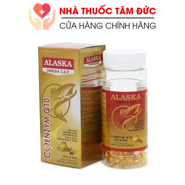 Viên dầu cá Alaska Omega 369, dầu gấc, tinh dầu hoa anh thảo giúp bổ não, sáng mắt, khỏe tim mạch - Chai 100 viên cao cấp