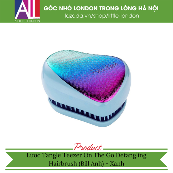 Lược Tangle Teezer Compact Styler Hairbrush (Bill Anh) - Xanh