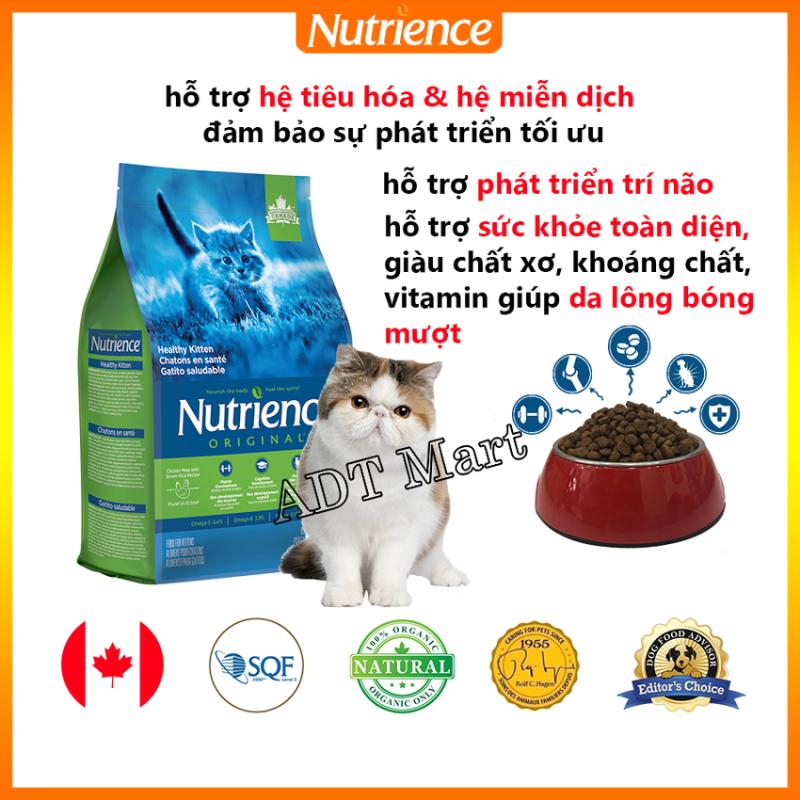Thức Ăn Cho Mèo Con Nutrience Original - Thịt Gà, Rau Củ, Trái Cây Tự Nhiên. Phát triển Trí Não, Protein Cao Hỗ Trợ Hệ Tiêu Hóa, Giàu Chất Xơ, Vitamin, Khoáng Chất Giúp Da Lông Bóng Mượt, Hỗ Trợ Hệ Tiêu Hóa & Hệ Miễn Dịch Khỏe Mạnh