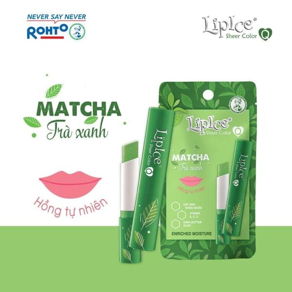 Son dưỡng Lipice Sheer Color Q Matcha 2.4g (Hồng tự nhiên, hương Trà Xanh) giá rẻ