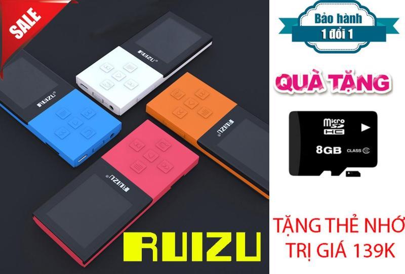 Máy Nghe Nhạc MP3/MP4 Bluetooth Lossless Ruizu X18 8GB + Thẻ nhớ 8Gb Class 10