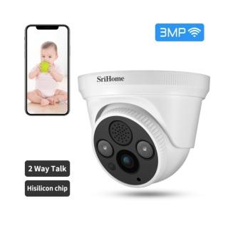 CAMERA GIÁM SÁT KHÔNG WIFI - SRIHOME CAMERA - SH030 - 3.0Mpx Full HD 1080p Camera IP Wifi giám sát, quan sát không dây thumbnail