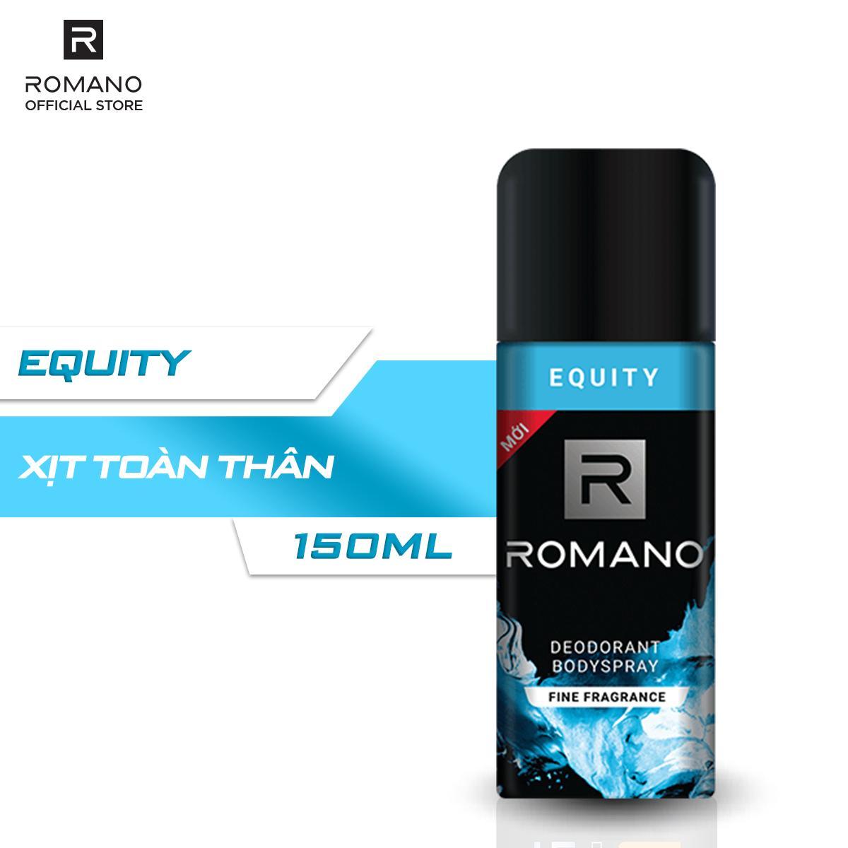 Xịt khử mùi toàn thân Romano Equity 150ml cao cấp