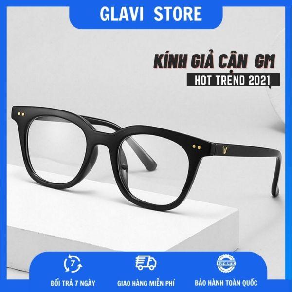 Giá bán Kính giả cận nam nữ GLAVI phong cách Hàn Quốc chất liệu nhựa nhẹ nhàng ôm khít khuôn mặt tròng kính trong suốt chống rơi vỡ
