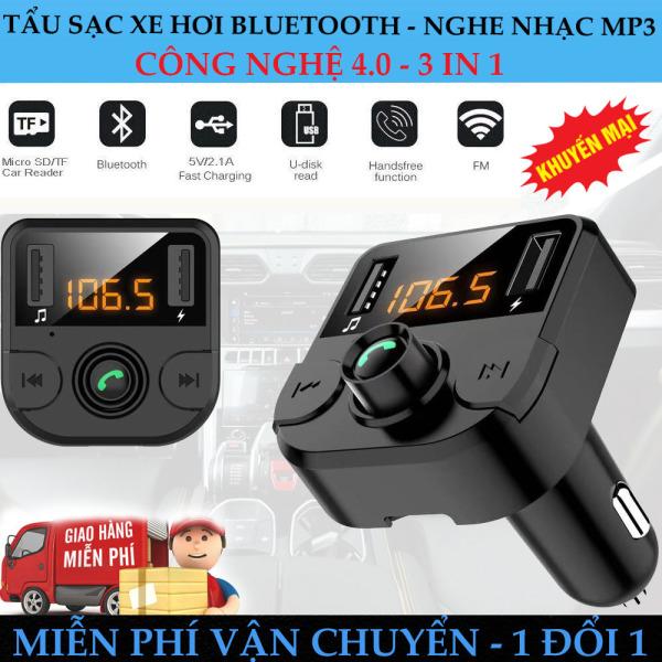 [ Miễn phí vận chuyển ] Máy Nghe Nhạc Mp3 Cho Xe Hơi, Kết Nối Bluetooth, Sạc Pin Nhanh Nghe Điện Thoại Rảnh Tay, sang trọng nhỏ gọn - Mua ngay số lượng có hạn. BH 3 Tháng - Lỗi 1 đổi 1!