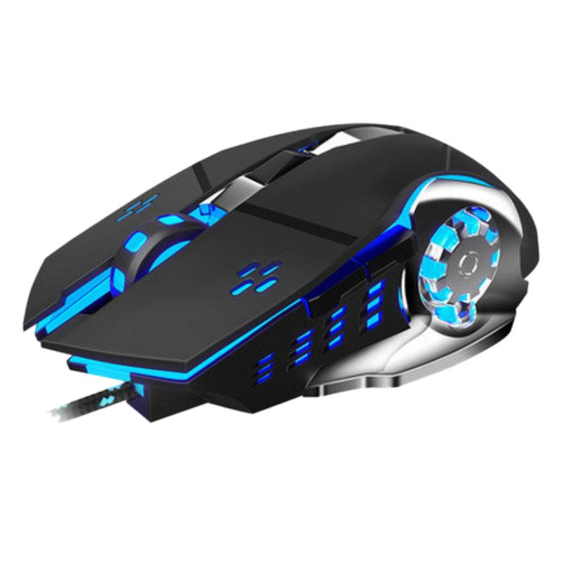 Giá 2500 DPI Professional Wired Gaming Mouse Breathing Backlight LED Optical USB Computer Mouse Mute Mechanical Mouse for PC Laptop