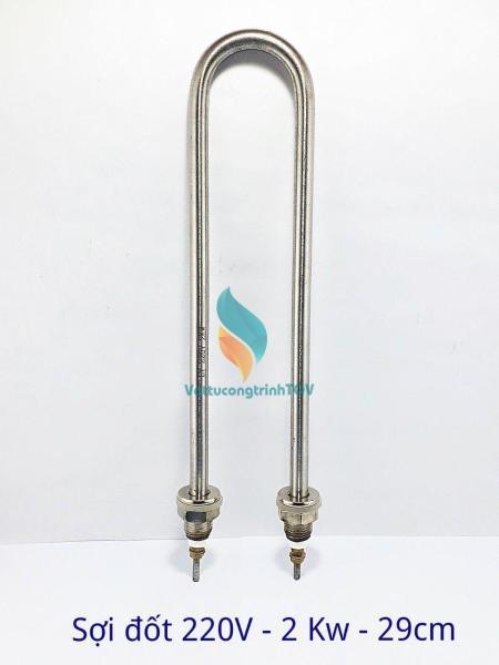 Sợi đốt điện trở nhiệt cho nồi phở 220V/2000W dài 29 cm chân thẳng
