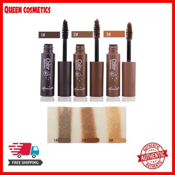 Mascara lông mày Aimeili 6in1 Natural Eyebrown Color My Browns hàng nội địa Trung (queen cosmetics) giá rẻ