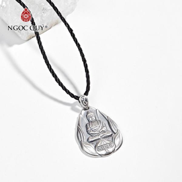 Mặt Dây Chuyền Bạc Phật Bản Mệnh Tuổi Mùi,Thân Đại Nhật Như Lai 3.6x2.6cm - Ngọc Quý Gemstones