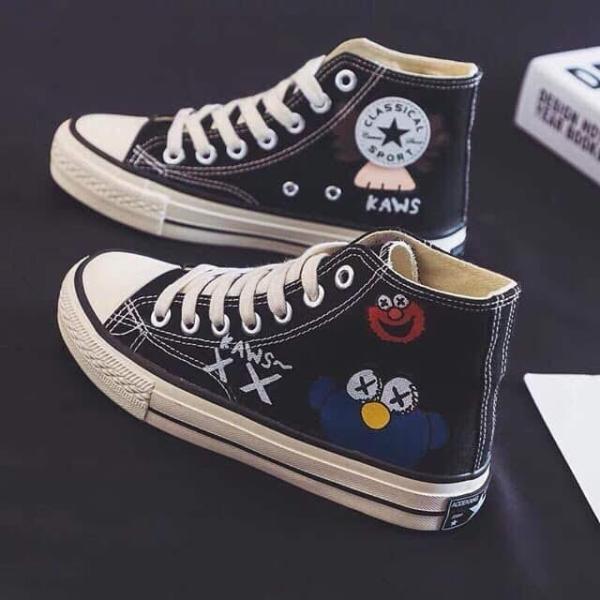 Giày Ngộ Nghĩnh dáng Converse cổ cao màu đen