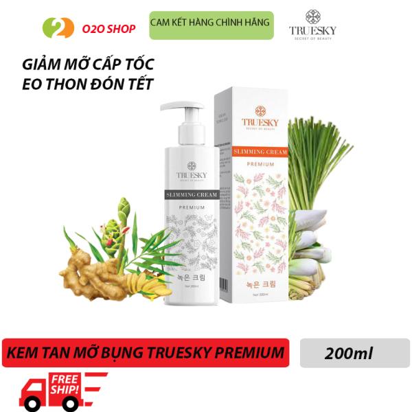 [Phiên Bản Cao Cấp] Kem Tan Mỡ Bụng Câp Tốc Truesky Premium O2O Shop Chiết Xuất Quế Gừng  200ml - Slimming Cream Dạng Vòi Giúp Đốt Cháy Mỡ Nhanh Eo Thon Đón Tết giá rẻ
