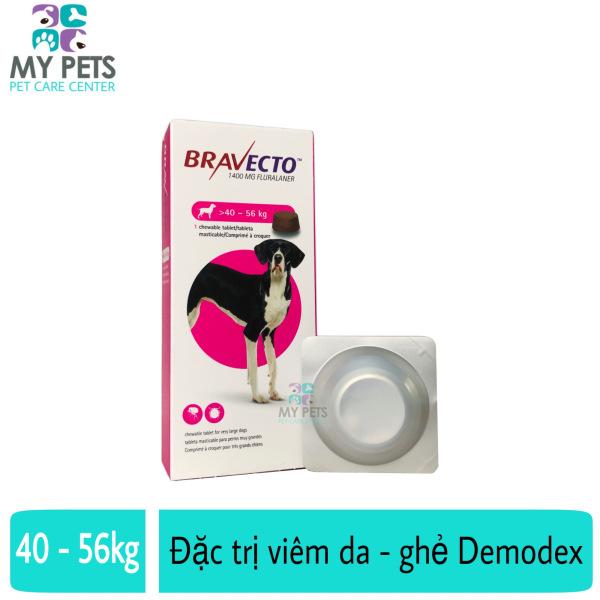 Thuốc trị ve, bọ chét, viêm da, ghẻ máu demodex cho chó - Bravecto 40 - 56kg