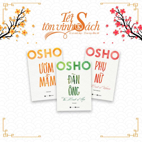 Mua [TẾT SÁCH] - COMBO Osho - Đàn ông, phụ nữ và ươm mầm - THÁI HÀ BOOKS