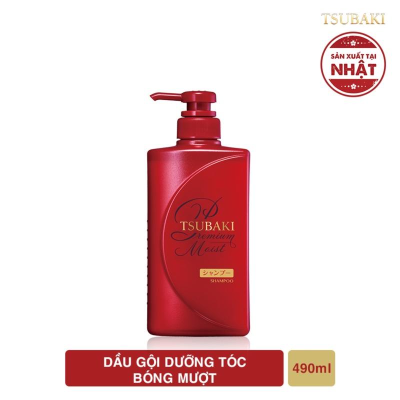 [ Quà tặng ] Dầu gội dưỡng tóc bóng mượt Tsubaki premium moist shampoo 490ml giá rẻ