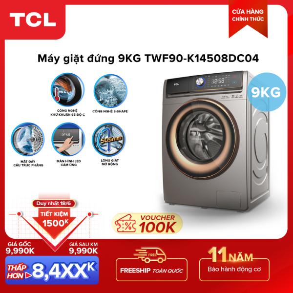 Bảng giá Máy giặt TCL 9,0Kg lồng ngang TWF90-K14508DC04 - Màn hình cảm ứng - Động cơ Inverter không chổi than - Giặt nhanh 15 phút - Lồng giặt tổ ong - Khóa nam châm điện - Chống bẩn Điện máy Pico