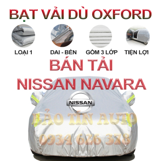 [LOẠI 1] Bạt che kín bảo vệ xe bán tải Nissan Navara 4,5 chỗ tráng bạc cao cấp, vải bông chống xước 3 lớp vải dù Oxford , bạt phủ trùm che nắng, mưa, bụi bẩn, áo chùm bạc trùm phủ xe oto ban tai Bảo Tín Auto thumbnail