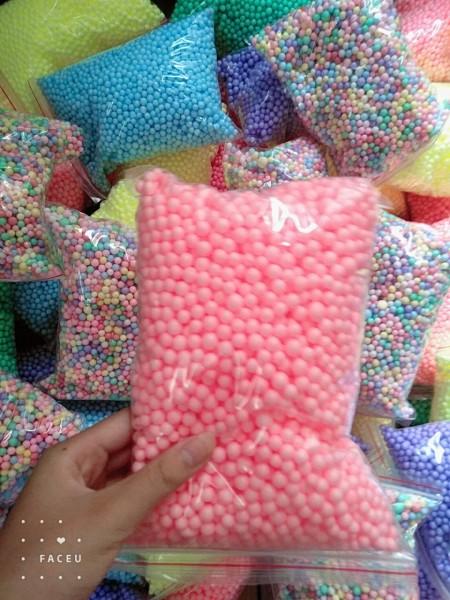 Hạt xốp màu 👍 [RẺ VÔ ĐỊCH túi 24*17] 👍siêu đẹp, hạt tròn, các cỡ, giá rẻ, không dính bết ,  Trang trí hộp quà