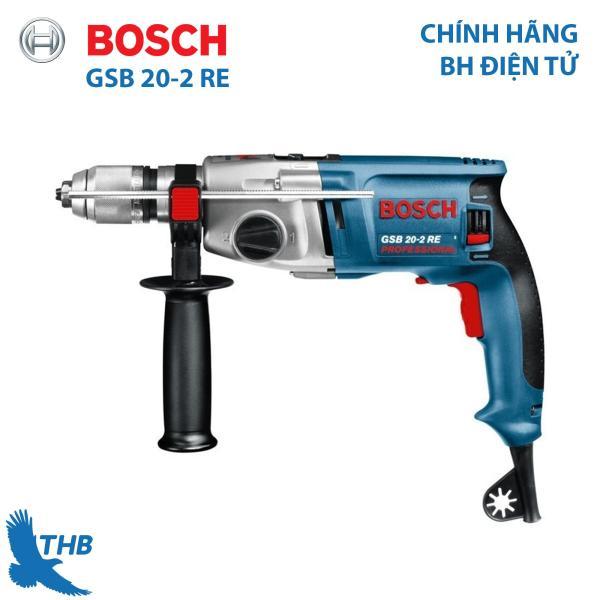 Máy khoan động lực Bosch Máy khoan đa năng Bosch GSB 20-2 RE Công suất 800W xuất xứ Malaysia bảo hành điện tử 12 tháng
