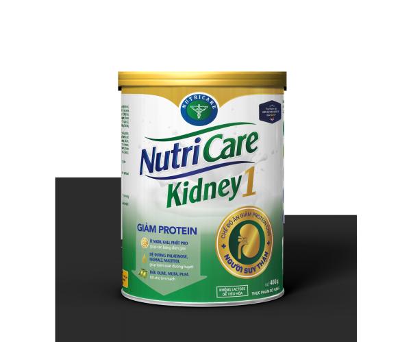 Sữa bột Nutricare Kidney 1 - dinh dưỡng cho người suy thận, tiền chạy thận nhân tạo (400g)