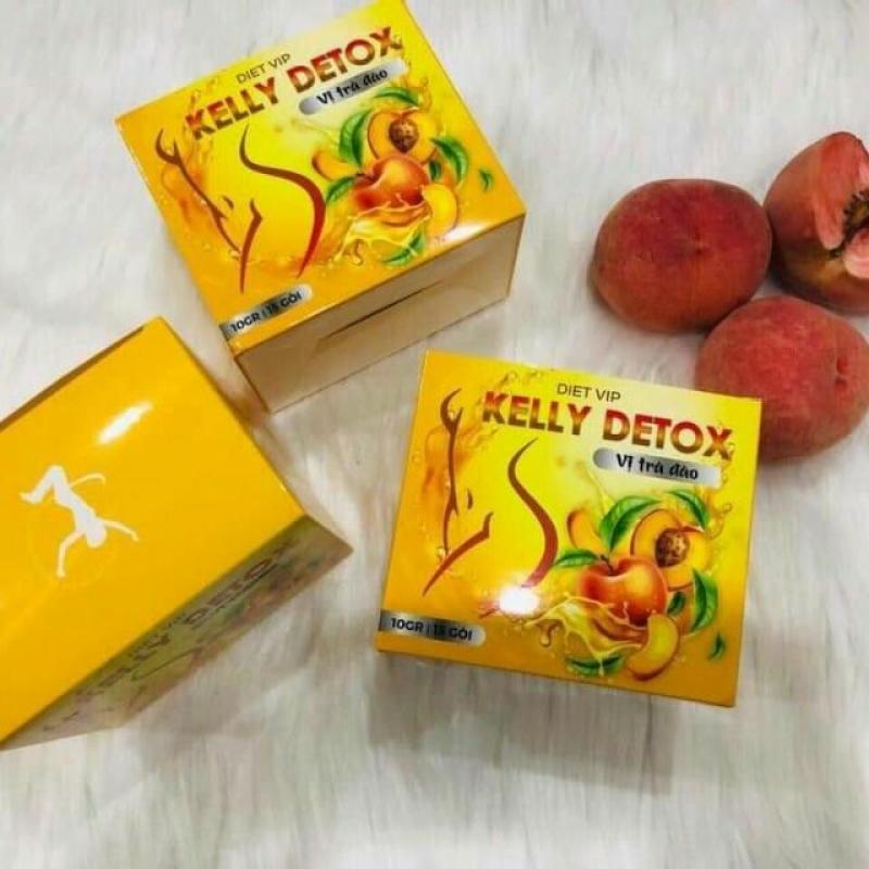 Trà Đào giảm cân Kelly Detox Dietvip giá rẻ