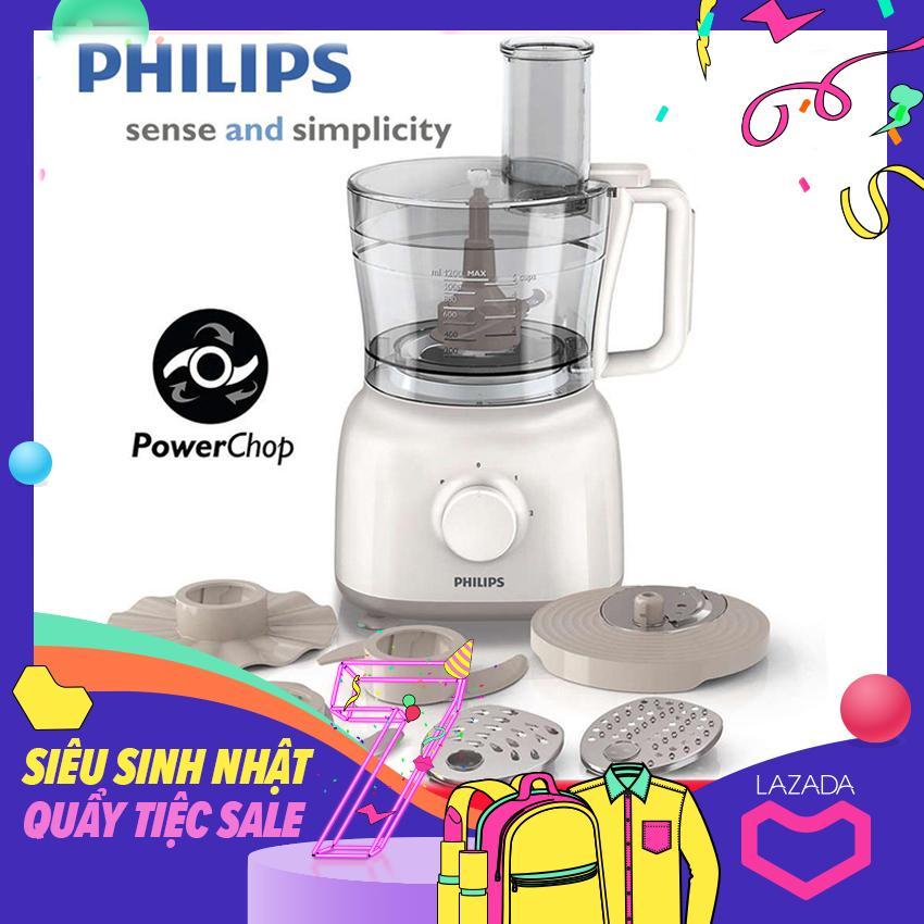 Máy Xay đa Năng Philips HR7627 650W  (Trắng) - Hàng Nhập Khẩu Có Giá Tốt