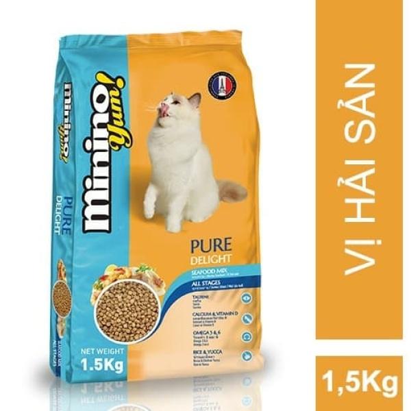 Thức ăn cho mèo vị hải sản Minino Yum 1,5kg