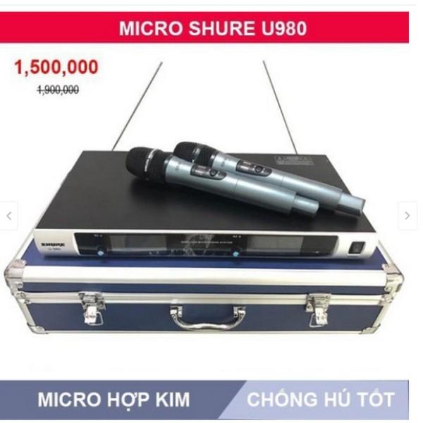 Micro Không Dây U980 Hộp Nhôm