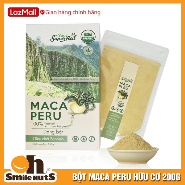 Bột Maca Hữu Cơ Hộp 200g - Nhập Khẩu Từ Peru