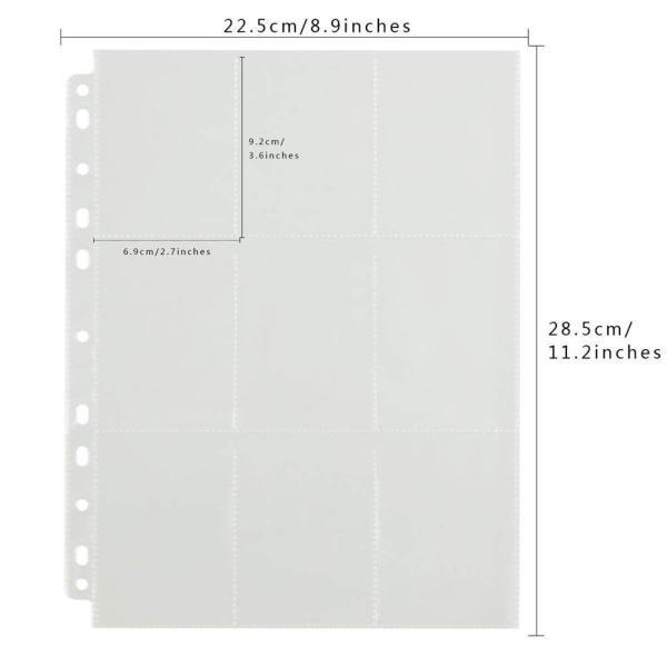 Sheet đựng thẻ bài 9 ngăn 6.3 cm x 9 cm