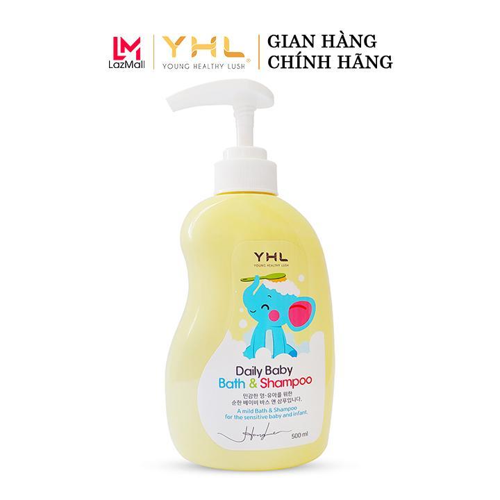 Giá Ưu Đãi Hôm Nay Để Có Ngay Sữa Tắm Gội Em Bé YHL Hàn Quốc - YHL Daily Baby Bath & Shampoo 500ml