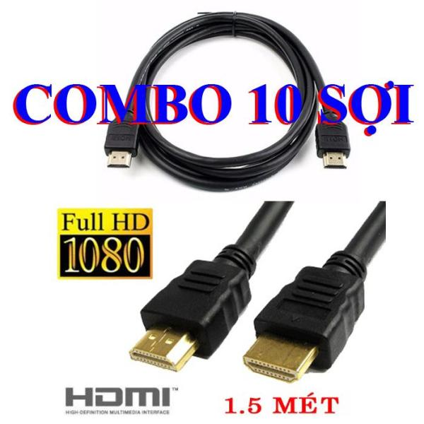 COMBO 10 Dây HDMI 1,5m TRÒN Full HD - cable HDMI 1,5m
