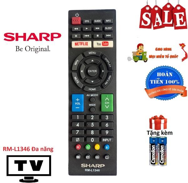 Bảng giá Điều khiển tivi Sharp RM-L1346 đa năng các dòng LED/LCD - Hàng tốt [ tặng kèm pin, BH đổi mới ]