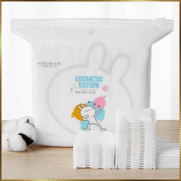 Bông tẩy trang Cosmetic Cotton Maycreate gói 150 miếng