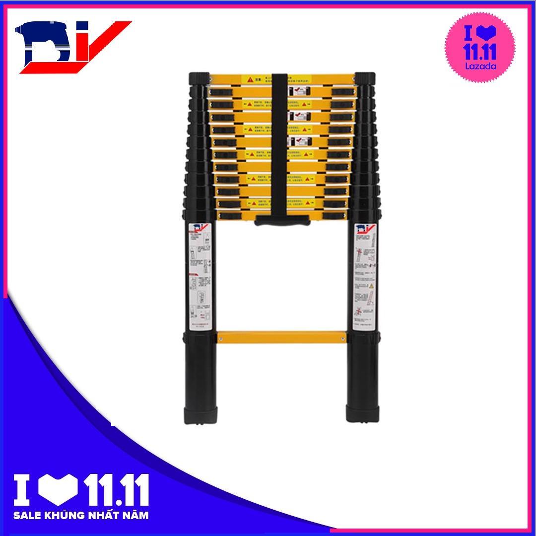 Thang nhôm rút đơn 3.8m DIY TL-I-38B (Mới)