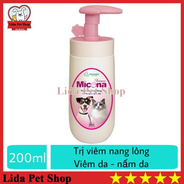 [Lấy mã giảm thêm 30%]HN- Sữa tắm chuyên ngừa viêm da nấm da dưỡng lông siêu mượt cho chó mèo (VMD) - shampoo Micona 200ml - Lida Pet Shop