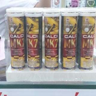 Viên Sủi CALCI MK7 - Giúp Bổ Sung Canxi Giúp trẻ phát triển chiều cao ,giảm nguy cơ còi xương ở trẻ ,loãng xương người lớn Tăng Sức Đề Kháng,Giảm Mệt Mỏi Căng Thẳng-Tuýp 20 viên 4g thumbnail