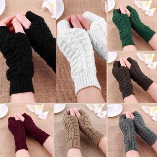 Cặp găng tay len dệt kim mềm mại thời trang mùa đông cho nữ - INTL thumbnail