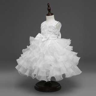 Đầm Xòe Mùa Hè Cho Bé Gái Đầm Công Chúa Dự Tiệc Đám Cưới Thắt Nơ Hoa Hồng Không Tay
