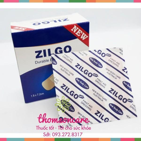 Băng cá nhân Zilgo 102 miếng - Băng vết thương nhỏ mụn trứng cá Chính hãng