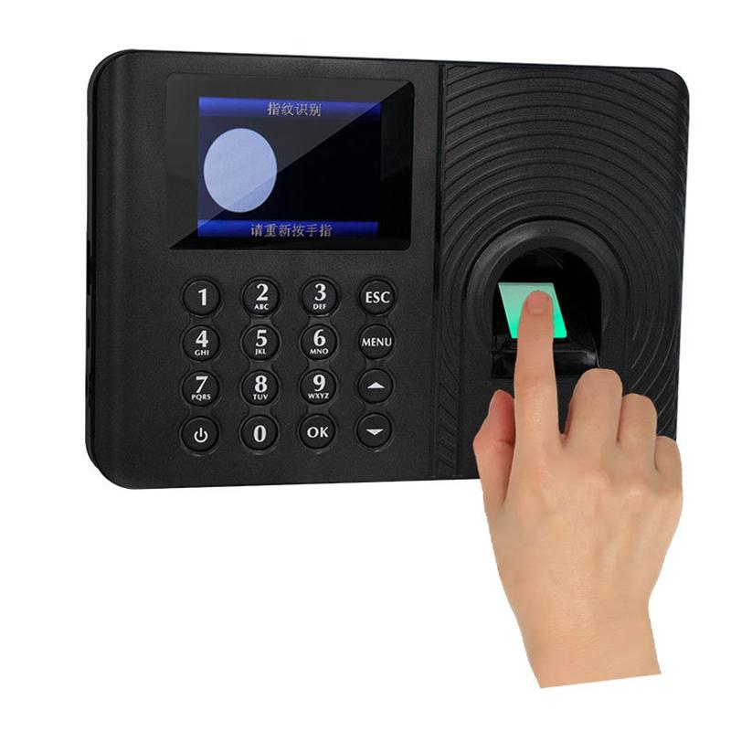 A10 Fingerprint Time Attendance System Clock Recorder Employee Recognition Recording Device Electronic Machine(EU Plug)