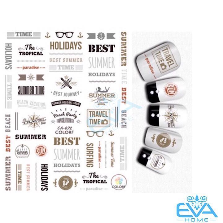 Miếng Dán Móng Tay 3D Nail Sticker Tráng Trí Hoa Văn Hoạ Tiết Chữ Viết Alphabet CA072 tốt nhất