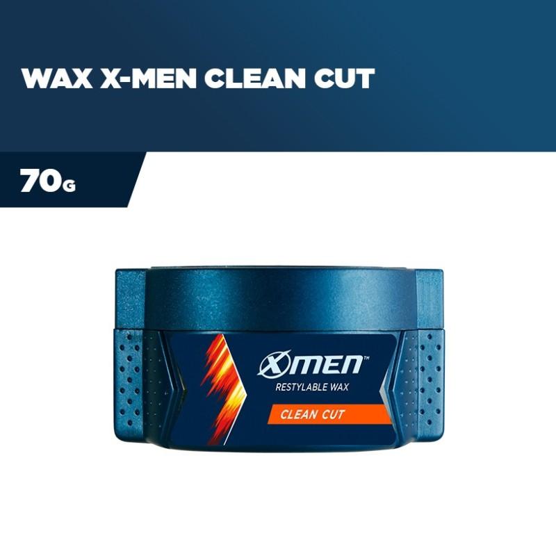 Sáp vuốt tóc X-Men Clean Cut hộp 70g   CHUẨN ĐẸP TRAI VỚI KIỂU TÓC UNDERCUT CÙNG SÁP X-MEN CLEAN CUT giá rẻ