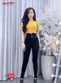 quần jean nữ cao cấp màu đen lưng cao M520( ẢNH THẬT 100%) 89 FASHION siêu hót phong cách hàn quốc thời trang 89 fashion AN007 thumbnail