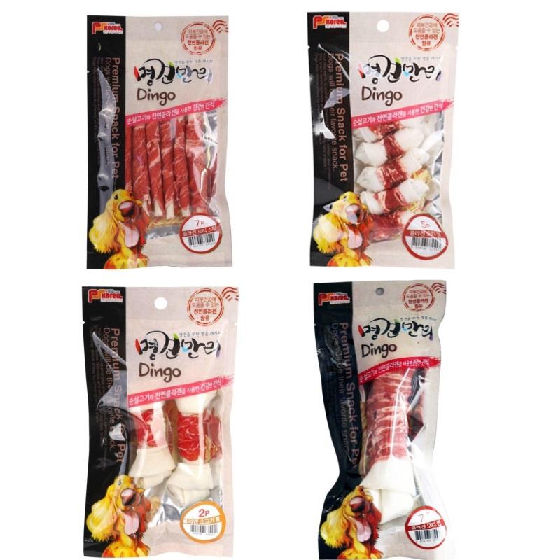 Thị cuộn xương bổ sung Collagen 80g Dingo (PSKorea) vị bò/gà - My Pet