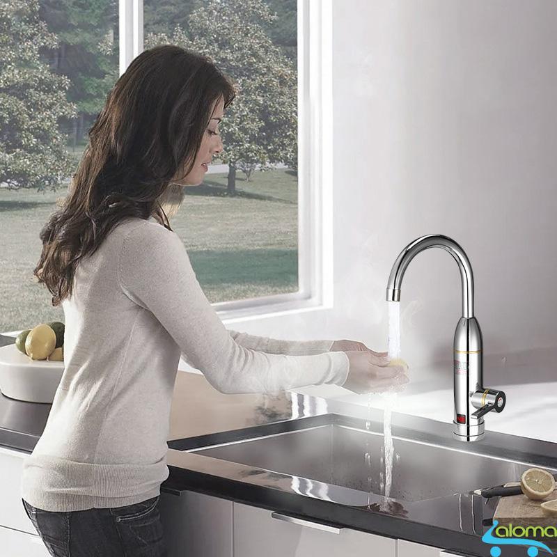 Bảng giá Máy làm nóng nước trực tiếp tại vòi Qwater IN-01 bằng inox kèm ổ điện chống giật