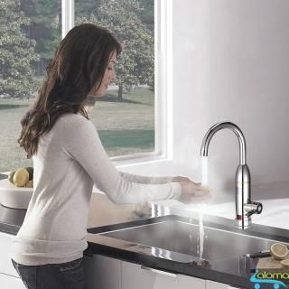 Máy làm nóng nước trực tiếp tại vòi Qwater IN-01 bằng inox kèm ổ điện chống giật thumbnail