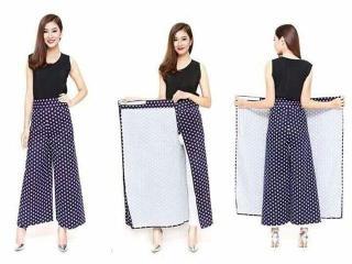 Váy chống nắng dạng quần cho nữ (giao họa tiết ngẫu nhiên ) thumbnail